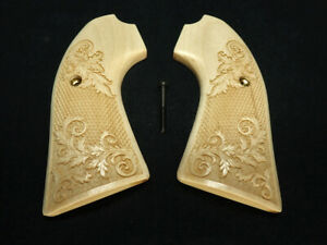 Floral Checker Maple Ruger Bisley Vaquero Grips Checkered Engraved Textured