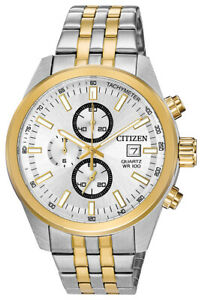 Citizen Quartz Men's Chronograph Multi Dial Two Tone 43mm Watch AN3624 51A