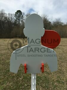 AR500 Combatant Steel Hostage Reactive IDPA Shooting Target 38 11x13 for T-Post