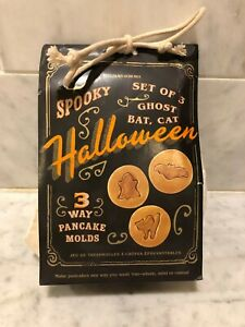 Williams Sonoma Spooky Halloween Pancake Molds Set of 3 Ghost Bat Cat NEW