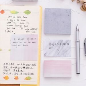 Creative Square Stones Sticky Notes Memo Pad Planner Stickers Stationery Retro $8.91