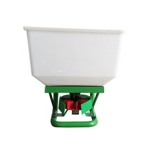 12-Volt ATV 265lbs Capacity Dry Material Broadcast Spreader Seeder Fertilizer
