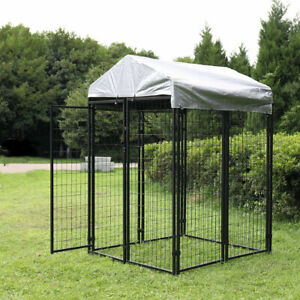 Extra Large Outdoor Dog Kennel Cage Dog Kennel House Heavy Duty Playpen w Cover $175.99