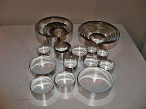 Fat Daddio's 18 gauge stainless steel Round Cake Rings, various sizes
