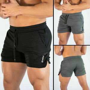 Men Swim Fitted Shorts Bodybuilding Workout Gym Running Tight Lifting Shorts sm