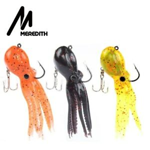 Meredith Octopus Fish Soft Silicone Lure 90mm Artificial Saltwater Sea Long Tail