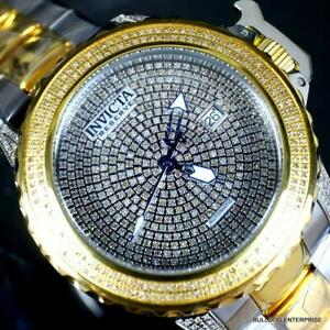 Invicta Reserve Subaqua Noma II Swiss Automatic 3 CTW Diamond 2 Tone Watch New
