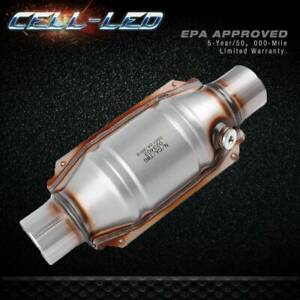 Stainless Steel 2 Inlet Outlet Catalytic Converter Universal fit EPA Approved $54.00