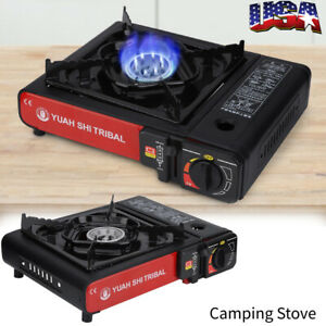 Portable Single Burner Dual Fuel Gas Stove for Butane and Propane Use