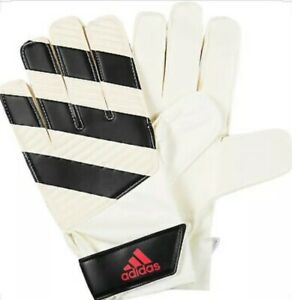 New Adidas Soccer Ace Junior Gloves Protection Gear Classic Lite 9 White Black $32.00