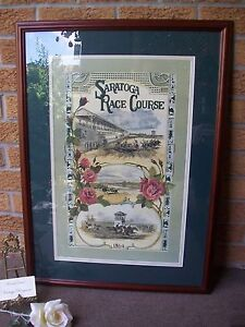 Saratoga Race Course Print Signed #'d 9272500 Karin Vollkommer LOCAL PICK-UP