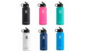 Hydro Flask 32OZ Wide Mouth Stainless Steel Bottle With Flip Up Straw Lid