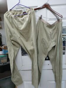 2 new Thermal DrawersPants ECWCS Level 2 Gen  Mid Weight Waffle large regular