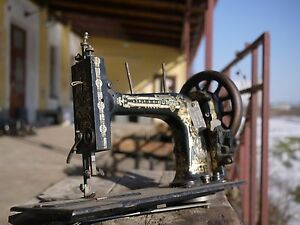 rare vintage Antique sewing machine unbranded spinx $250.00