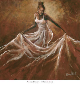 African American Art quot;Ethereal Gracequot; Black Art Print of Woman by Monica Stewart