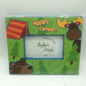 Stephen Joseph Happy Camper Picture Frame 4×6 Gift For Camping RV Theme Childs