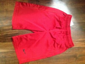 BOYS (SIZE SMALL S) NIKE RED SPORTS DRY FIT  SHORTS - EUC Nice!