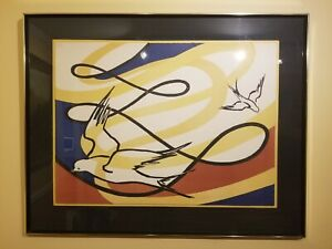 Alexander Calder Lithograph Pencil Signed and Numbered - Doves in Flight