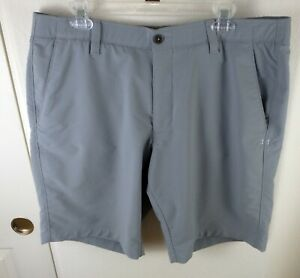 Men's Under Armour Match Play Golf Gray Shorts Size 38 Style 1253487