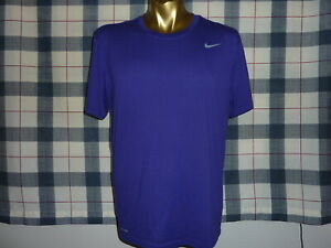 NIKE DRI-FIT men's Purple T Shirt sz Large 44