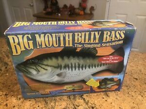 NEW IN BOX Big Mouth Billy Bass Motion Activated Singing Sensation Gemmy