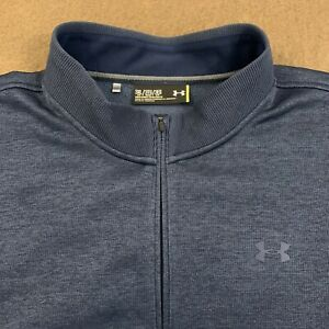 Mens UNDER ARMOUR Navy Blue Storm Sweaterfleece 14 Zip Sweatshirt 3XLT