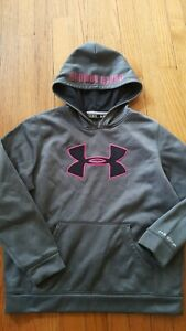 Girls Under Armour Storm Youth Large Loose Fit Cold Gear Hoodie