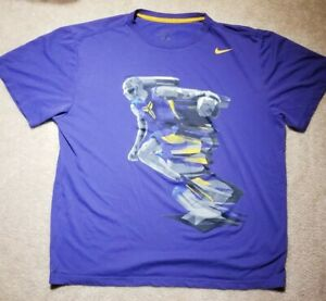 Nike Dri-Fit Mens T-Shirt Kobe Bryant Graphic Tee Purple XL Pre-Owned