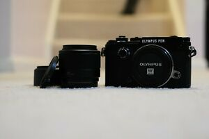 Barely Used - Olympus PEN-F 20.3MP + Panasonic 25mm F1.7 + Many Extras BUNDLE