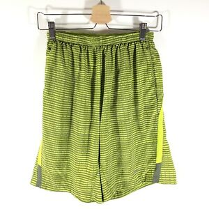 """Nike Running Dri Fit 9"""" Distance Shorts Printed Lined Green Gray Mens Small S $21.99"""