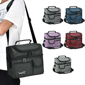 Insulated Lunch Bag Totes Cooler Large Bento Lunch Box Bag for Men Women Adult $15.99