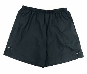 Men's Nike Dri-Fit 2XL Running Shorts Gray Lined Fitted Swoosh Reflective Sport