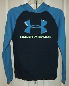 Under Armour Boys Rival Logo Pullover Sweatshirt Hoodie 1325328-408 New SZ Large