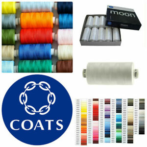 Coats Moon Sewing Machine Polyester Thread Cotton 1000 yards x 10 cops GBP 8.95