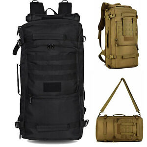 50L Military Tactical Molle Backpack 3 in 1 Camping Trekking Travel Luggage Bag