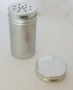 Aluminum Shaker Container With Screw On-Lid Large Holes, For Dried Leaf Herbs