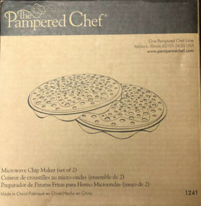 The Pampered Chef - Microwave Chip Maker 1241 (Set Of 2) - New In Box