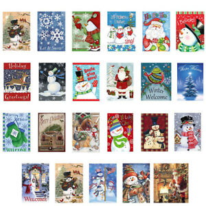 12x18'' Merry Christmas Smile Santa Claus Gift Double Sided Winter Garden Flag