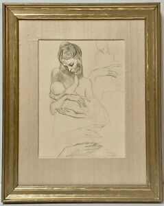 RARE PICASSO LITHOGRAPH MOTHER AND CHILD MATERNITY NURSING GIFTS FOR MOM VINTAGE