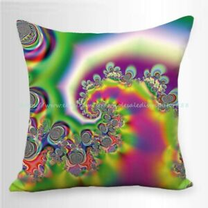 trippy psychedelic cushion cover throw pillow case modern $14.99