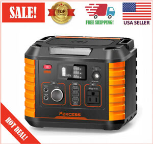 Portable Power Station 330W (700W Peak) Power Supply Generator for Outdoors Camp