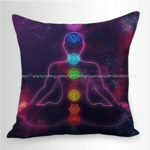 chakras meditation cushion cover decorative throw pillow cases