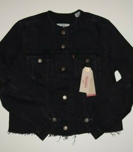 BLACK Women's LEVI'S Collarless Jacket: 359350001