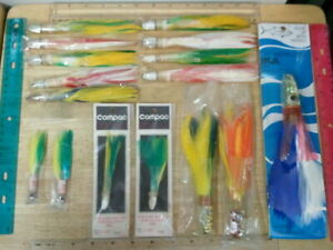 Lot 16 of Vintage Collector's Trolling Lures Pearlhead Ika Jigs