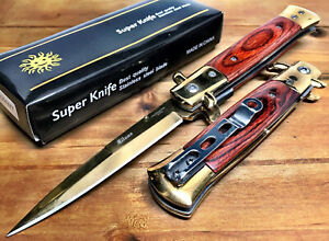 8.75quot; Italian Milano Damascus Assisted Open Spring Pocket Knife Knives GDWRD $13.45