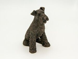 Castagna cold cast faux bronzeresin airedale terrier figurine 4