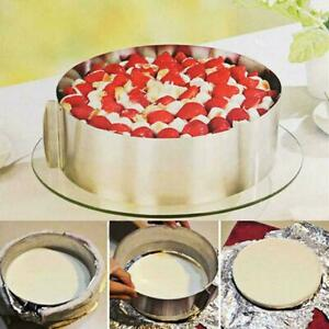 Adjustable Round Mousse Mould Cake Stainless Steel Baking Mold Ring Pastry O1V7