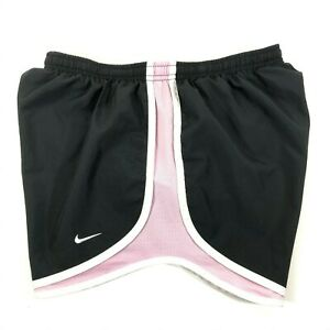Nike Dri Fit Tempo Running Shorts Lined Black Pink White Womens Medium M