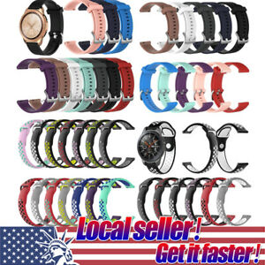 US Silicone Rubber Watch Band Wrist Strap For Samsung Galaxy Watch 42mm/46mm x4
