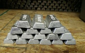 19 Lb. Lead ingots for bullet casting and sinker making from clip on wheel weigh